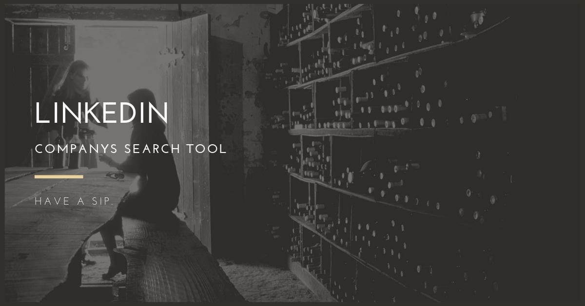 linkedin company search tool