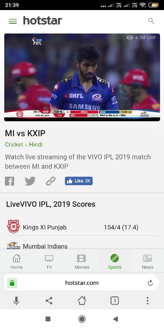 watch ipl for free on hotstar for free in mobile