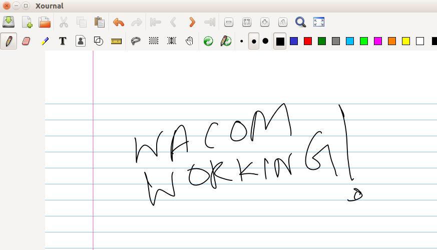 wacom working