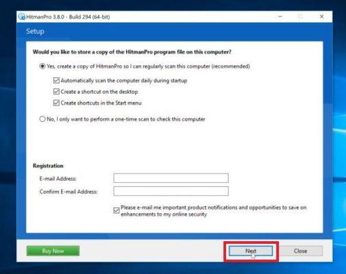 HitmanPro final installer screen