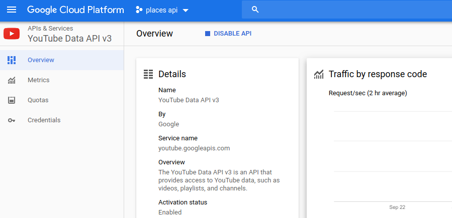 youtube data api v3 1 1
