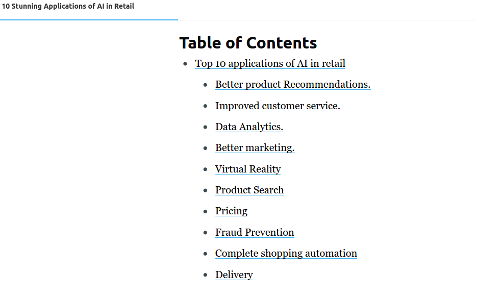 How to add table of contents in Ghost CMS?