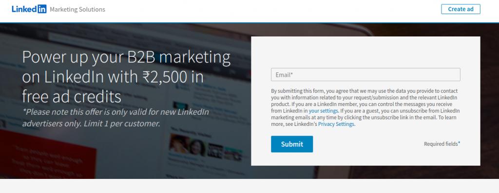 Linkedin ad credit 1