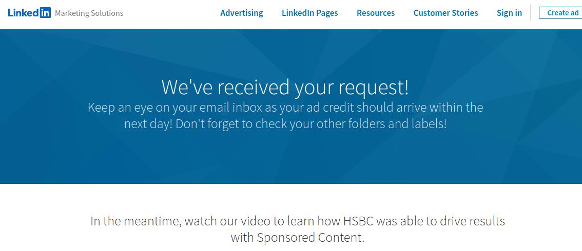 Linkedin ad credit 2