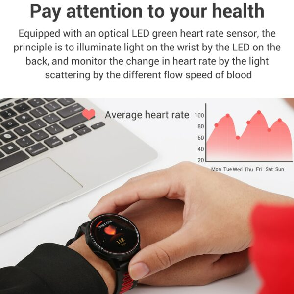 2020 New L6 Smart Watch IP68 Waterproof Sport Men Women Bluetooth Smartwatch Fitness Tracker Heart Rate Monitor For Android IOS 2