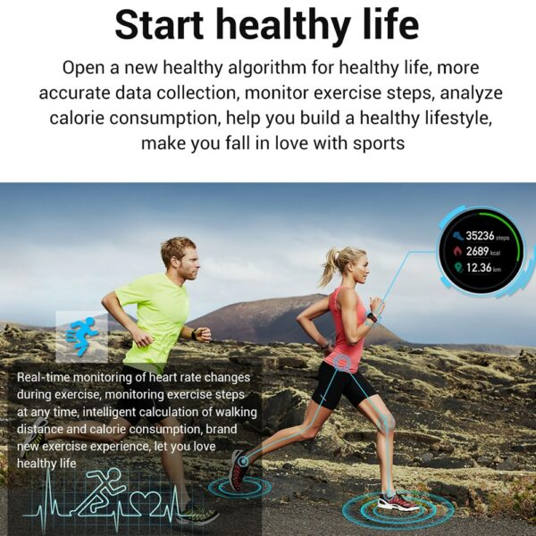 2020 New L6 Smart Watch IP68 Waterproof Sport Men Women Bluetooth Smartwatch Fitness Tracker Heart Rate Monitor For Android IOS 3