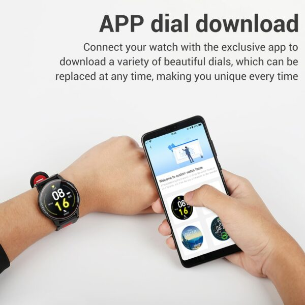 2020 New L6 Smart Watch IP68 Waterproof Sport Men Women Bluetooth Smartwatch Fitness Tracker Heart Rate Monitor For Android IOS 5