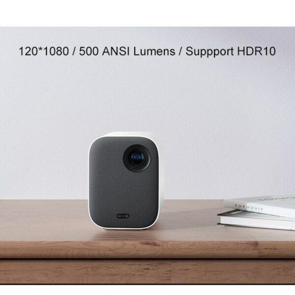 4K Video Xiaomi Mijia DLP Projector 1080P Full HD AI Voice Remote Control 2GB DDR3 8GB eMMC 2.4G / 5G WiFi 3D BT for Home Cinema 6