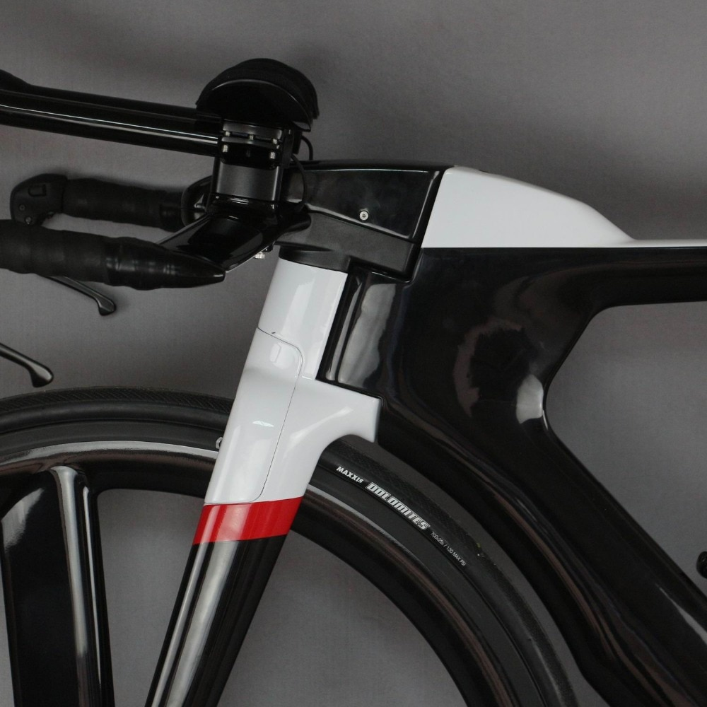 700C Complete Bike TT Bicycle Time Trial Triathlon Carbon Fiber Carbon Black Painting Frame with DI2 R8060 groupset 3