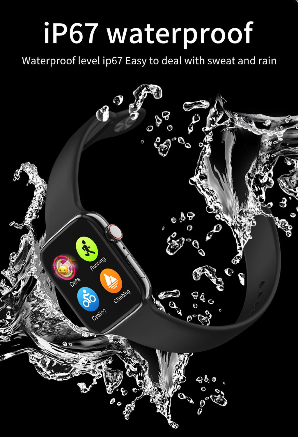 F18 men and women smart watches, fitness tracking bracelets, heart rate monitors, touch and keys, waterproof IP67 4