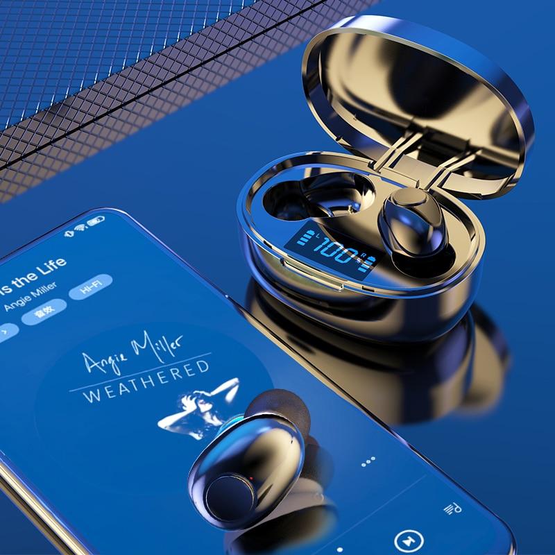 Wireless Earphones TWS Bluetooth 5.0 Mini Earbuds Stereo Bass LED Power Display Noise Cancelling Sports Waterproof Earbud In Ear 2