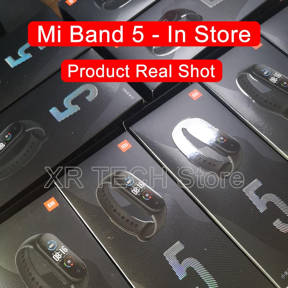 Xiaomi Mi Band 5 Smart Bracelet Band AMOLED Screen Miband 5 Smartband Fitness Wristband Heart Rate Monitor Bluetooth Sport Water 3