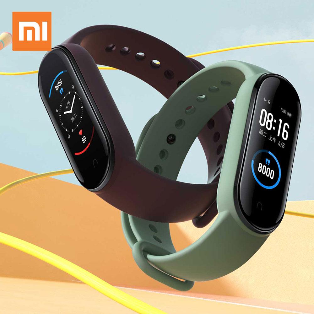 Xiaomi Mi Band 5 Smart Bracelet Band AMOLED Screen Miband 5 Smartband Fitness Wristband Heart Rate Monitor Bluetooth Sport Water 1