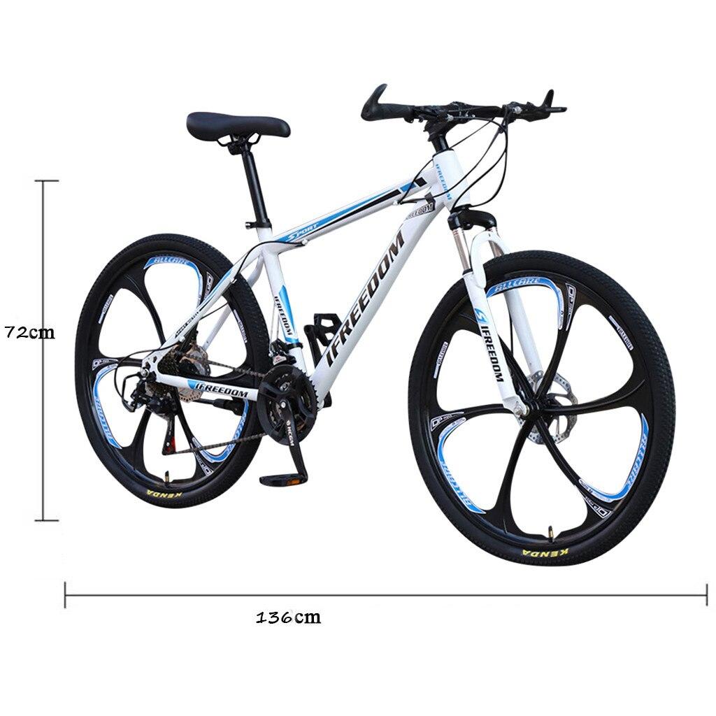 26 INCH Bike 21-Speed Mountain Bicycle Aluminium Double Disc Brake MTB Bike Bisiklet Bicicleta Mountain Road Cycling mtb 6.18 6