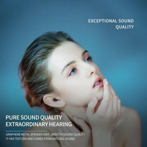 Bluetooth Earphones Wireless Two Ears Sports Running Mini Music Earphones HiFi IPX7 Waterproof earbuds Touch Control Headset for 4
