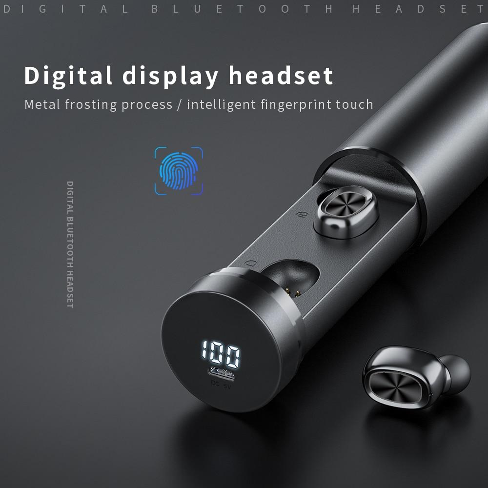Bluetooth Earphones Wireless Two Ears Sports Running Mini Music Earphones HiFi IPX7 Waterproof earbuds Touch Control Headset for 1