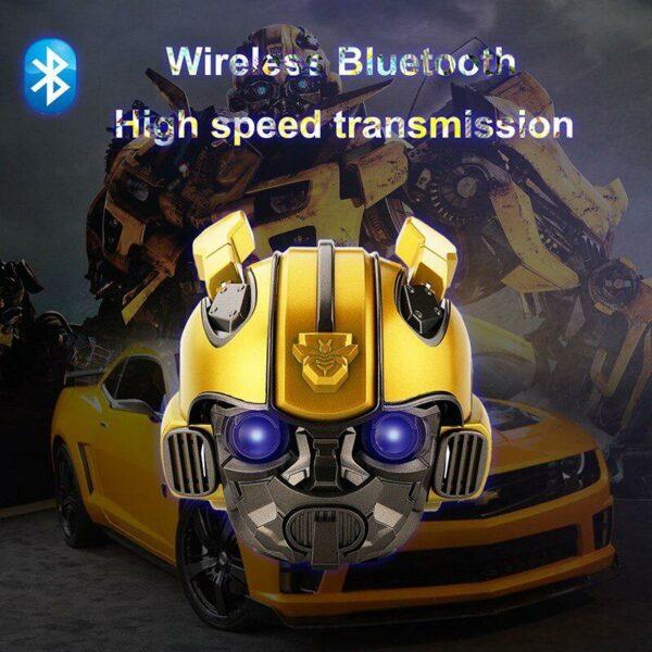 Kuulee Bumblebee Helmet Bluetooth Speaker Fm Radio Usb Mp3 TF Smart Subwoofer Bluetooth 5.0 Mini Wireless Stereo Loudspeakers 6