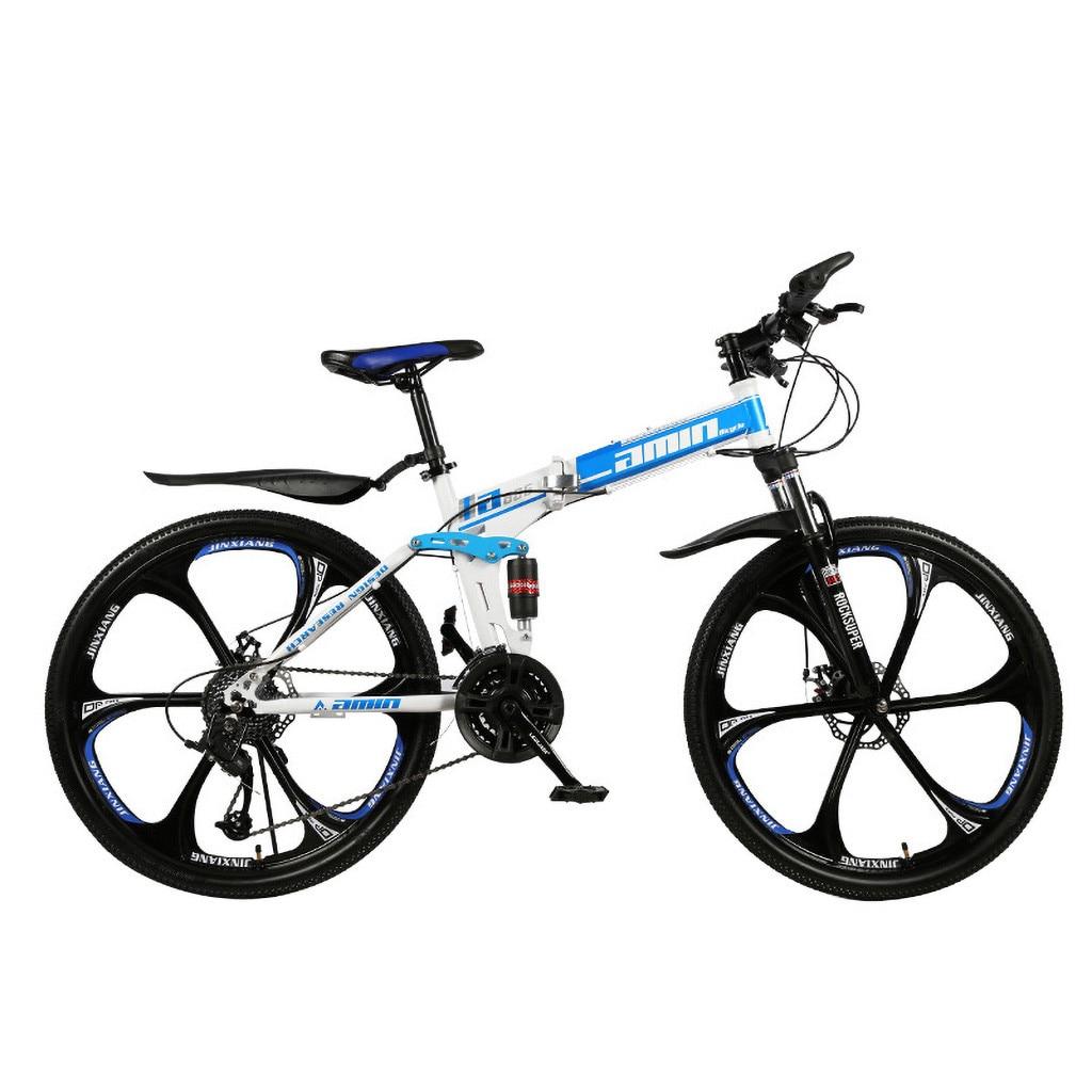 Men 26Inches Bicycle Foldable Mountain Bike 21 Speed Durable Steel Adults Bike Man Cycling sepeda lipat MTB bicicletas vtt 2020 3