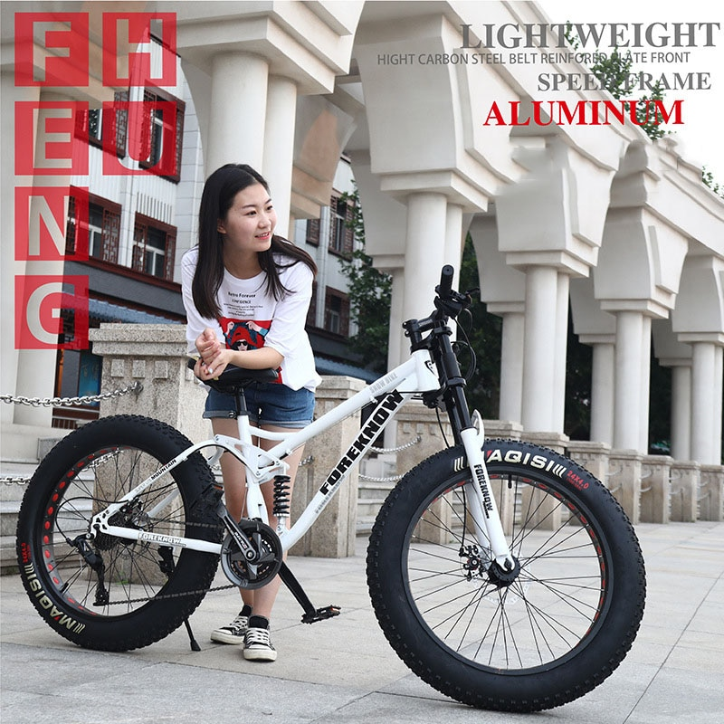 Multi-speed Cross-country 26inch Snow Bike Adult Extra wide 4.0 Large Tire Mountain Bike Male Female Cycling Students Bicycle 1
