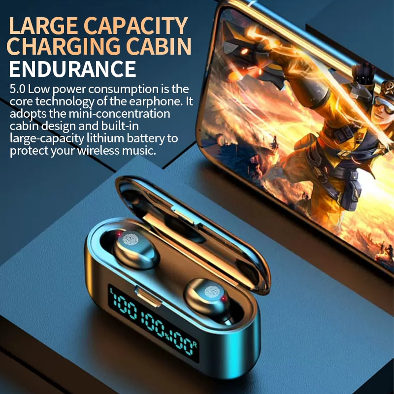 Wireless Bluetooth Headset 5.0 One Pair Of Mini Invisible Small In Ear Sports Running Super Long Standby Universal 2