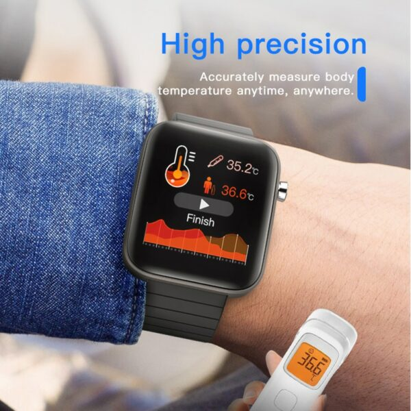 2020 NEW T68 smart watch body temperature detection ECG PPG waterproof camera weather Bluetooth sports pedometer smartwatch 2