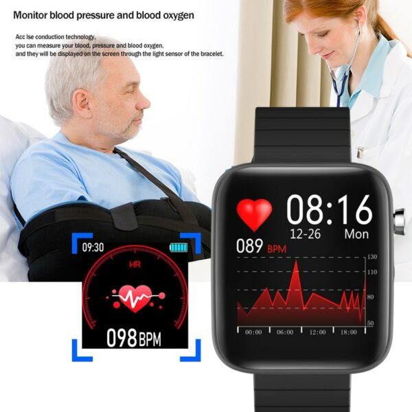 2020 NEW T68 smart watch body temperature detection ECG PPG waterproof camera weather Bluetooth sports pedometer smartwatch 3