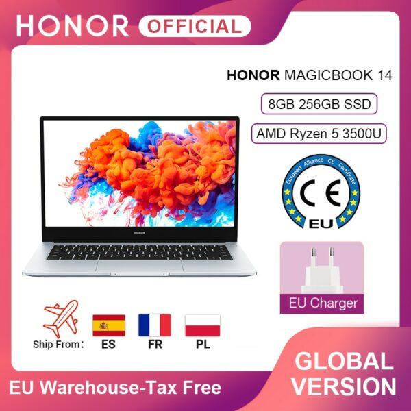 Global Version Honor MagicBook 14 Laptop 14.0'' FHD AMD Ryzen 5 3500U 8GB 256GB SSD 65W Fast Charger Windows 10 Laptops 1