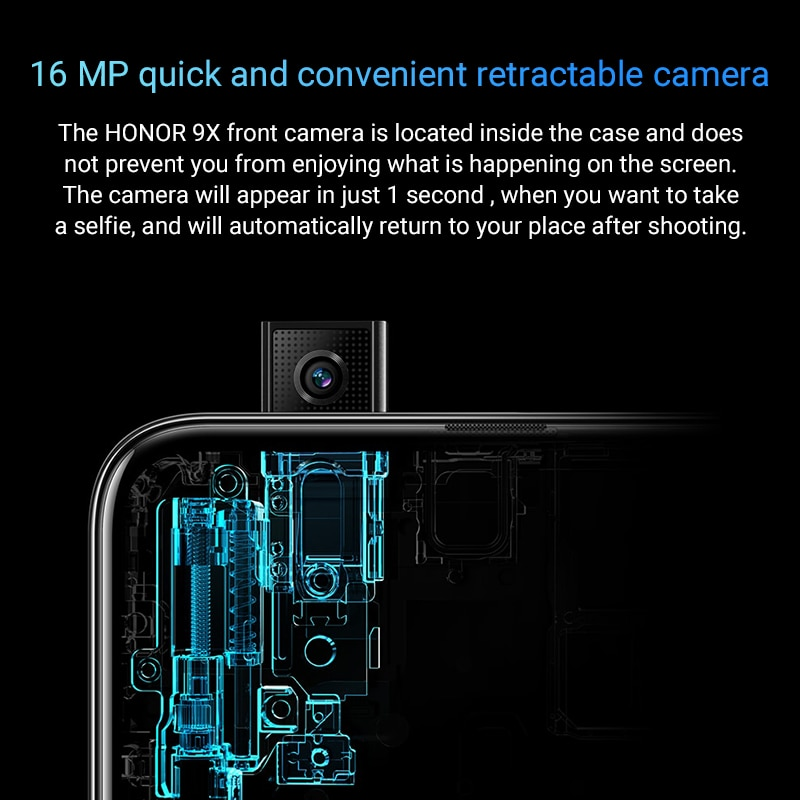 Special Version Honor 9X Smartphone 4G128G 48MP Dual Cam 6.59'' Mobile Phone Android 9 4000mAh OTA Google Play 3