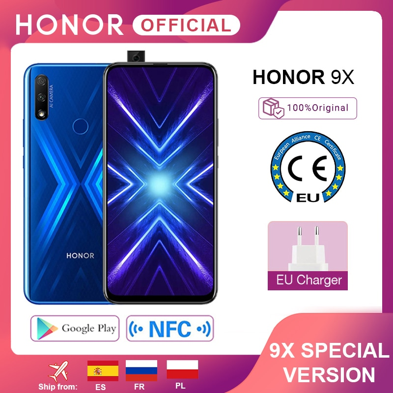 Special Version Honor 9X Smartphone 4G128G 48MP Dual Cam 6.59'' Mobile Phone Android 9 4000mAh OTA Google Play 1